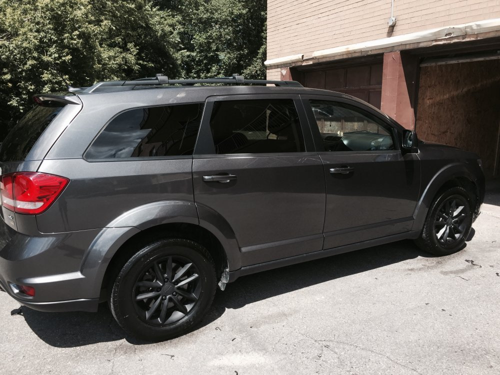 black rims accessories modifications dodge journey forum
