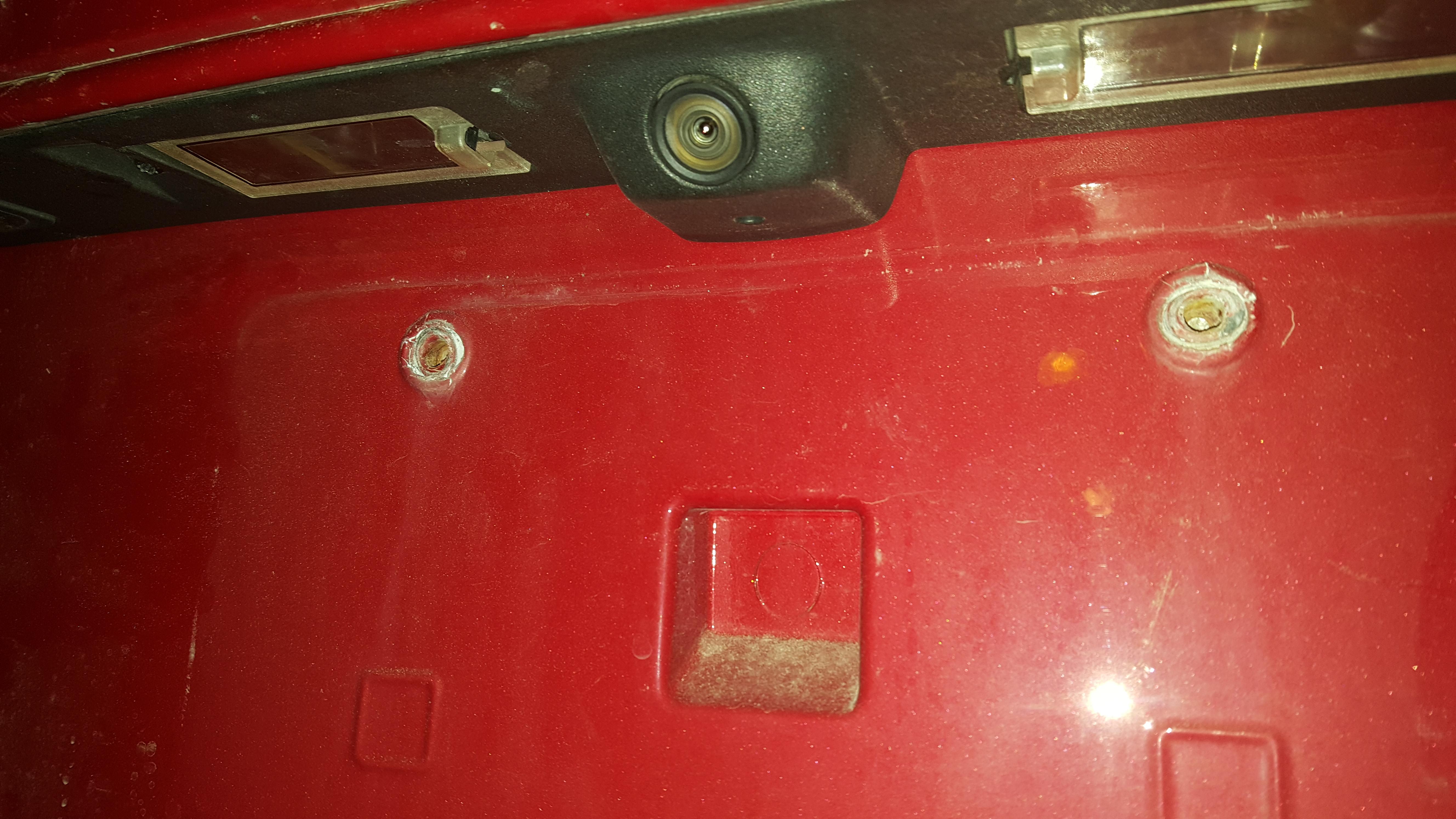 Rear License Plate Fix? - Accessories, Modifications - Dodge Journey Forum