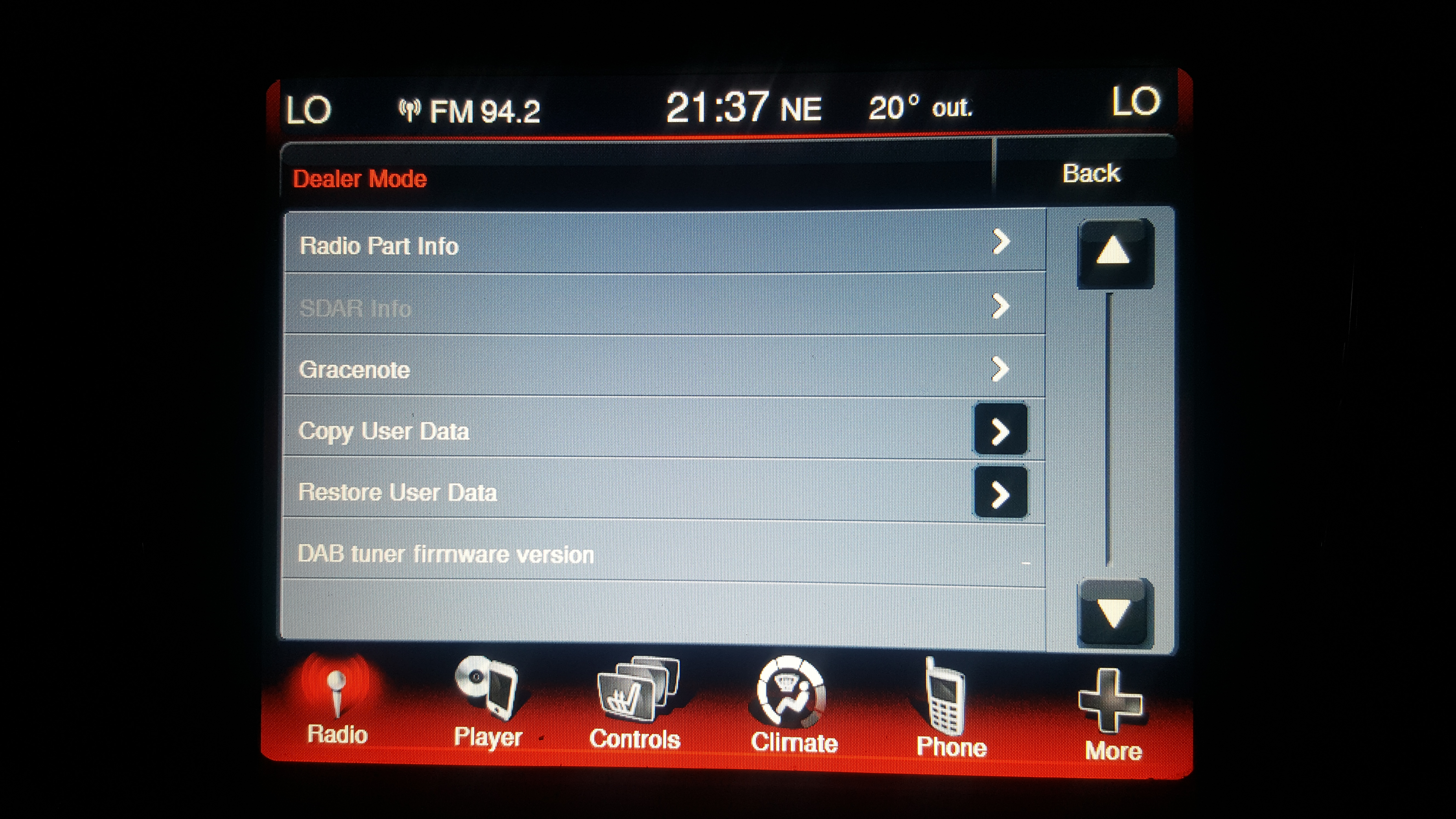 2013 Journey Uconnect Reset to factory - Audio, Infotainment
